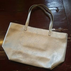 NWT Large Faux Leather Tote